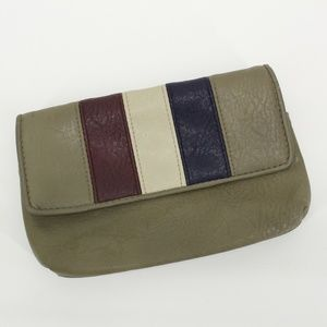 Vintage Gray 3 Stripe Clutch